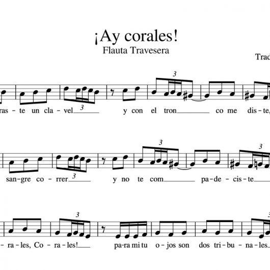 Partitura Ay corales flauta travesera