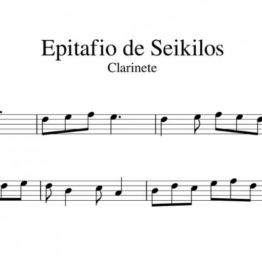 Epitafio de Seikilos - partitura para clarinete