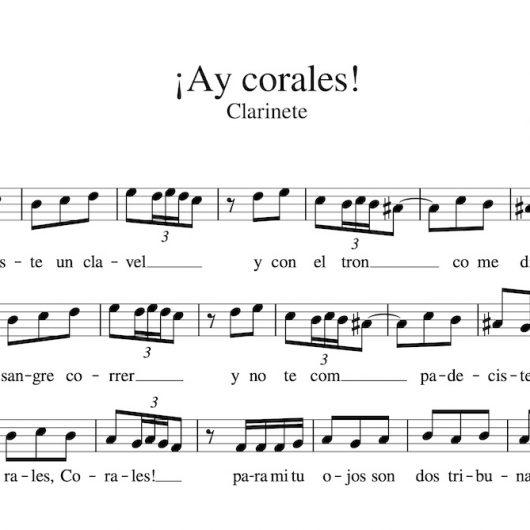 ¡Ay, Corales! - partitura para clarinete
