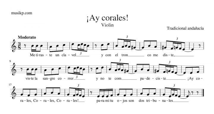 ¡Ay, Corales! - Partitura para violín