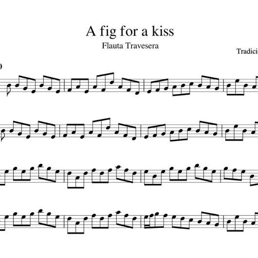 A fig for a kiss - partitura flauta travesera - tradicional Escocia