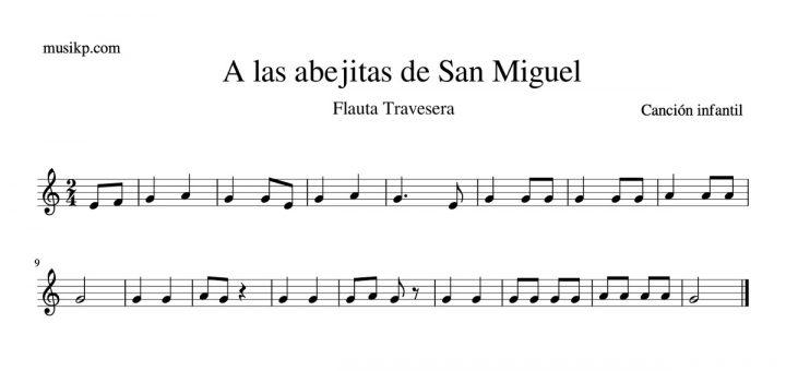 A las abejitas de San Miguel - partitura flauta travesera