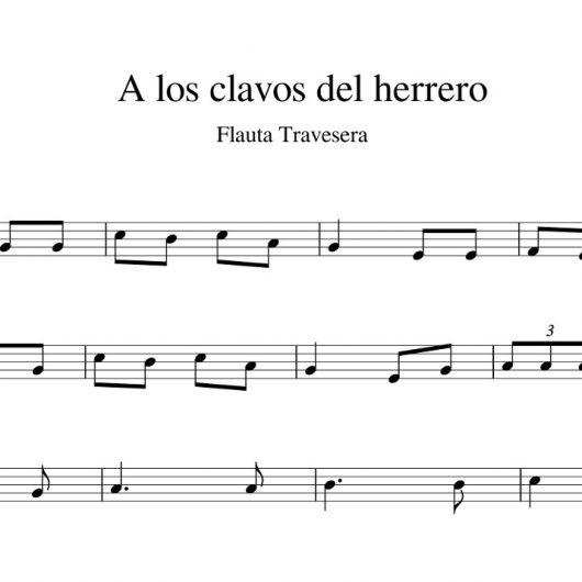 A los clavos del herrero - partitura flauta travesera
