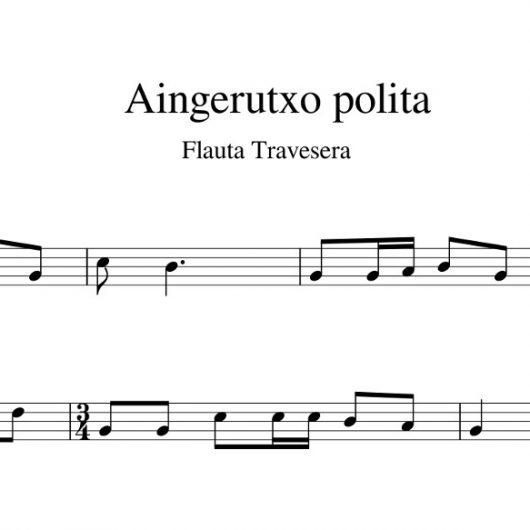 Aingerutxo polita - partitura flauta travesera