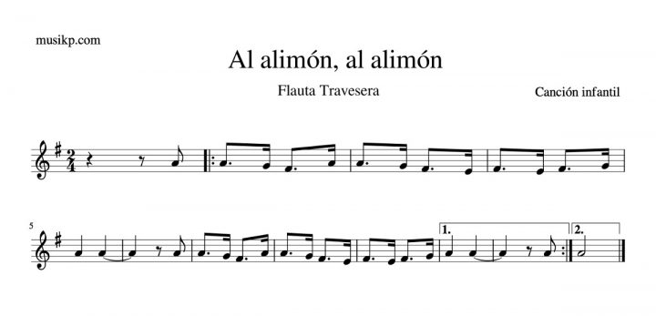 Al alimón, al alimón - partitura flauta travesera