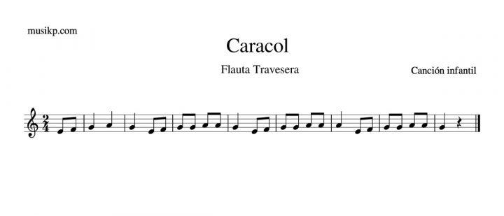 Caracol - Partitura flauta travesera