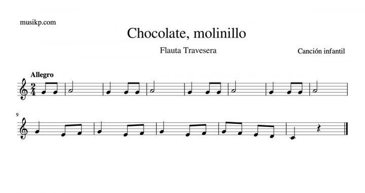 Chocolate, molinillo - partitura flauta travesera