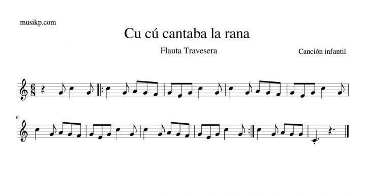 Cu cú, cantaba la rana - partitura flauta travesera