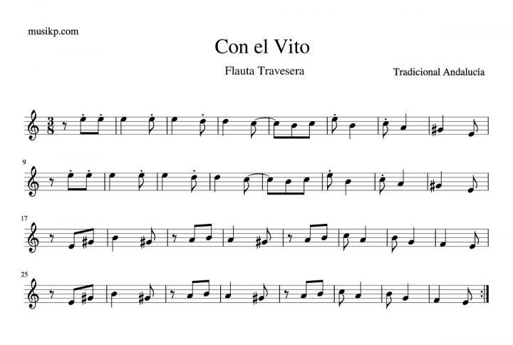 Con el vito - Partitura flauta travesera