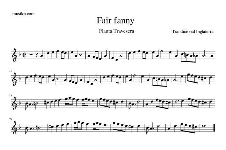 Fair fanny - partitura flauta travesera