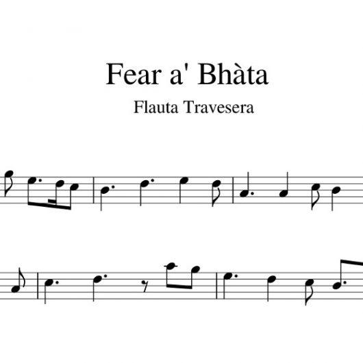 Fear a' Bhàtha - partitura flauta travesera