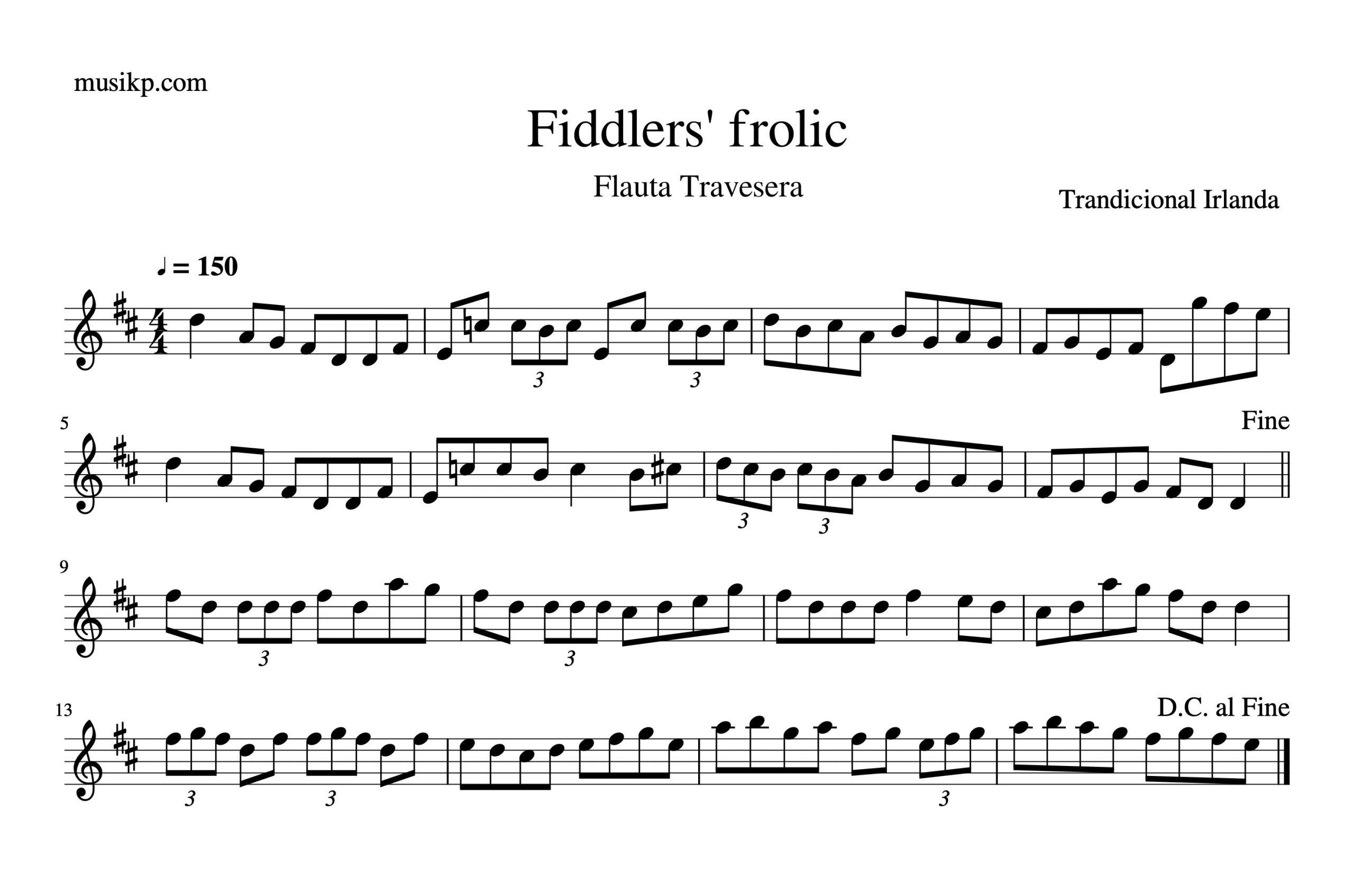 Fiddlers' frolic - partitura flauta travesera