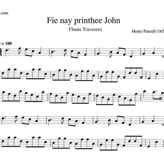 Fie nay printhee John - partitura flauta travesera