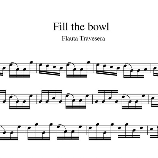 Fill the bowl - partitura para flauta travesera