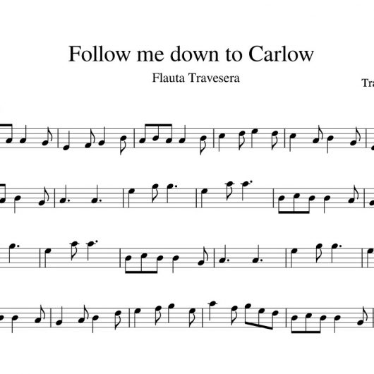 Follow me down to Carlow - partitura para flauta travesera