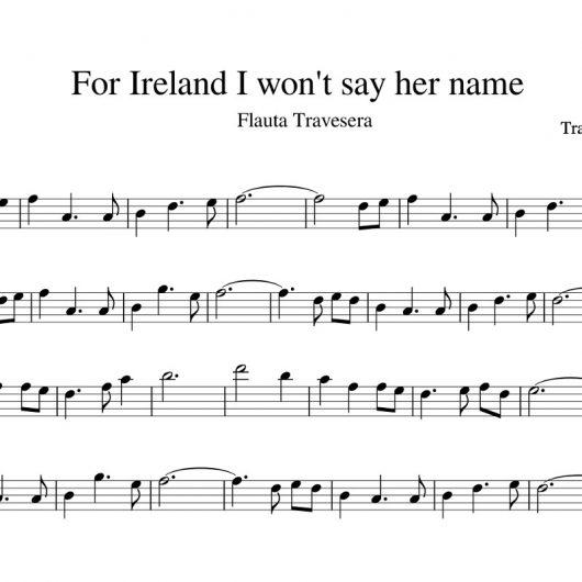 For Ireland I won't say her name - partitura para flauta travesera