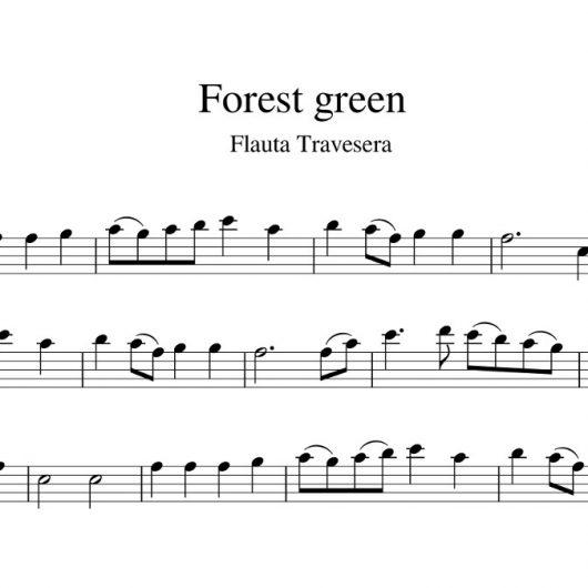 Forest green - partitura para flauta travesera
