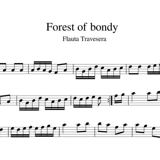 Forest of bondy - partitura para flauta travesera