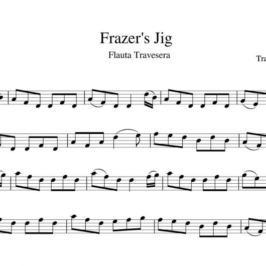 Frazer's jig - partitura flauta travesera