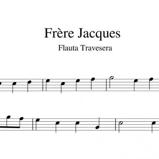 Frère Jacques - partitura flauta travesera