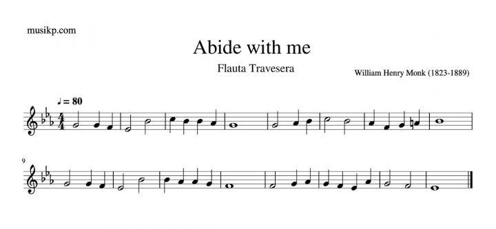Abide with me - partitura flauta travesera