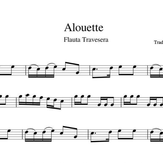 Alouette - partitura para flauta travesera