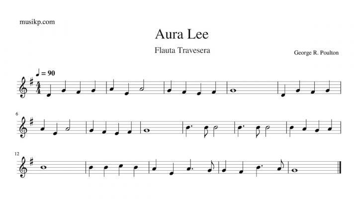 Aura Lee - partitura para flauta travesera