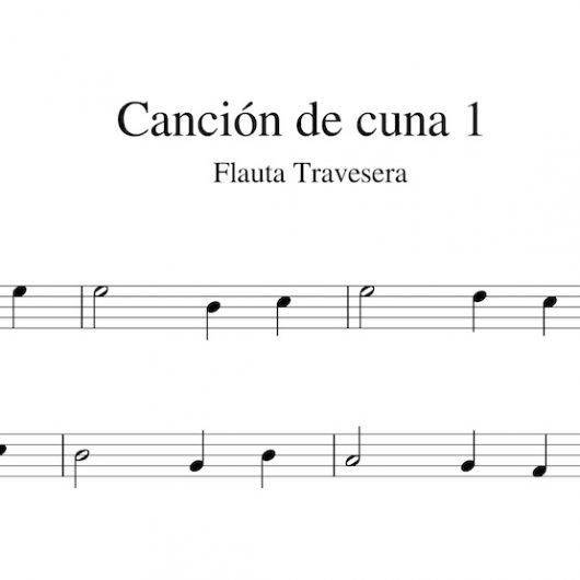 Canción de cuna 1 - Partitura para flauta travesera