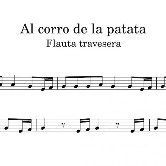 Al corro de la patata - partitura para flauta travesera