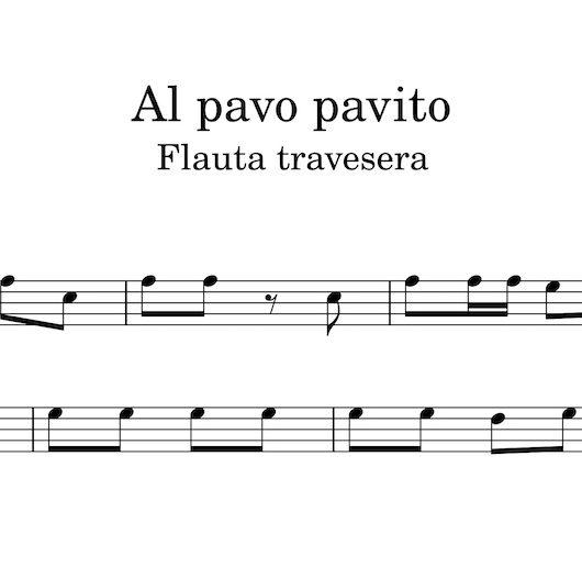 Al pavito pavo - partitura para flauta travesera