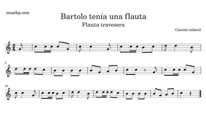 Bartolo tenía una flauta - partitura para flauta travesera
