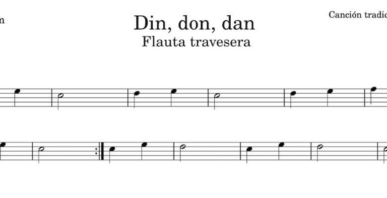 Din, don, dan - Partitura para flauta travesera