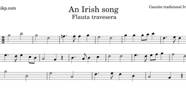 An Irish song - Partitura flauta travesera