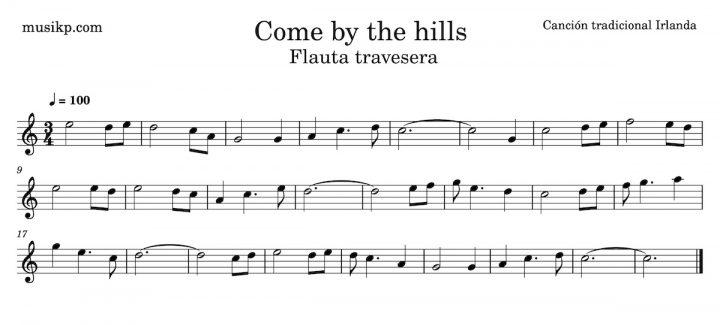 Come by the hills - Partitura para flauta travesera