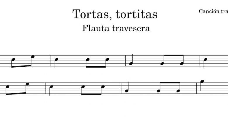 Tortas, tortitas - partitura flauta travesera