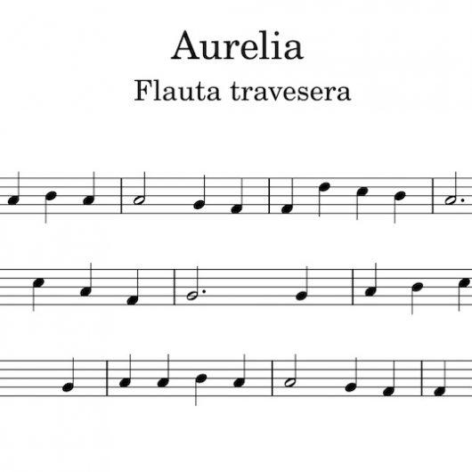 Aurelia - Partitura para flauta travesera