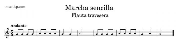 Marcha sencilla - Flauta travesera ejercicios