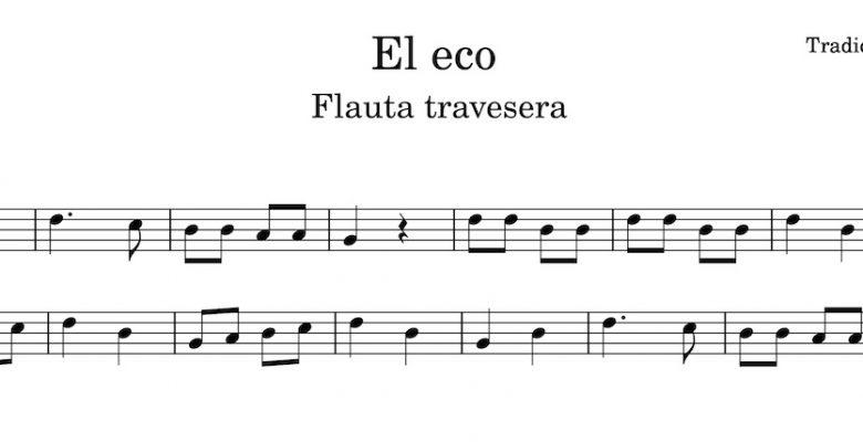 El Eco - Partitura flauta travesera