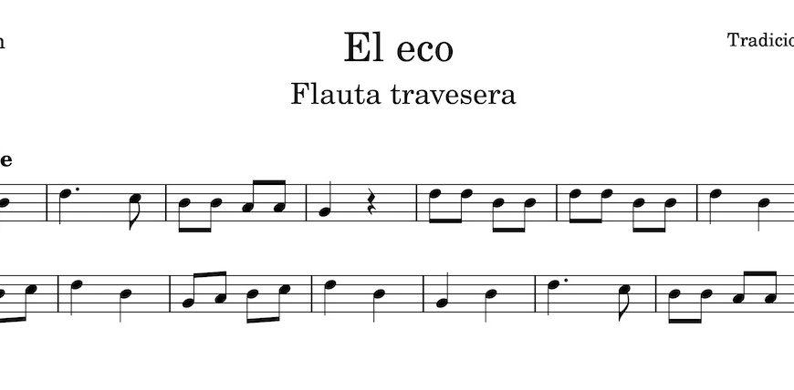 El Eco. Partitura Flauta Travesera