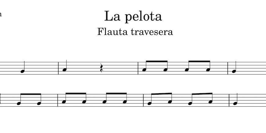La pelota. Partitura Flauta Travesera
