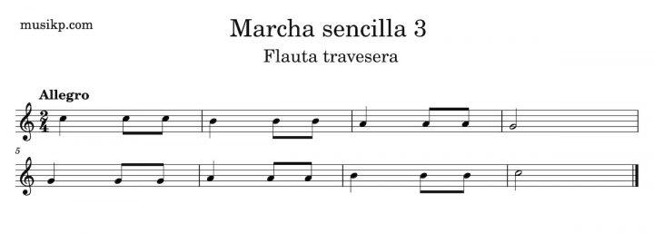Marcha sencilla 3 - Flauta travesera