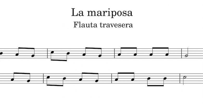 La mariposa - Partitura flauta travesera