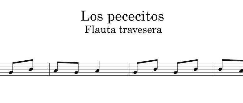 Los pececitos - Partitura flauta travesera