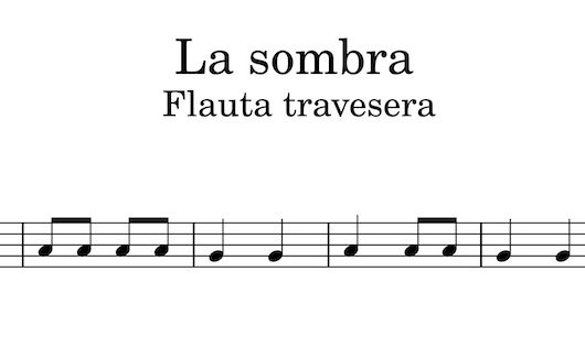 La sombra - Partitura para flauta travesera