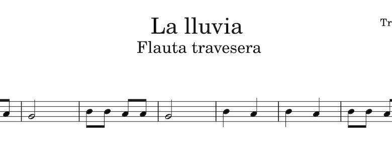 La lluvia - Partitura flauta travesera
