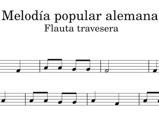 Melodía popular alemana - Flauta travesera
