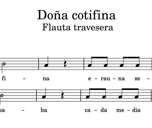 Doña Cotifina - Partitura para flauta travesera
