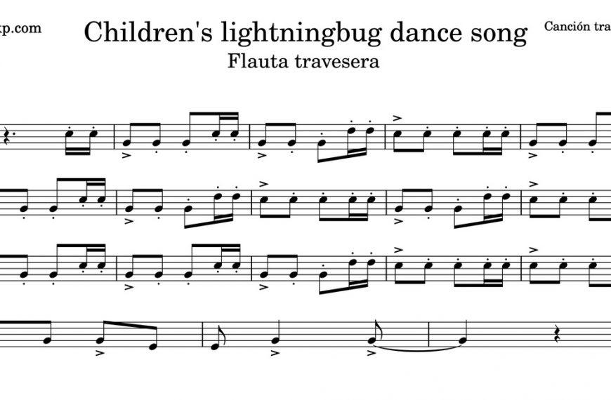 Children's lightningbug dance song. Partitura Flauta Travesera
